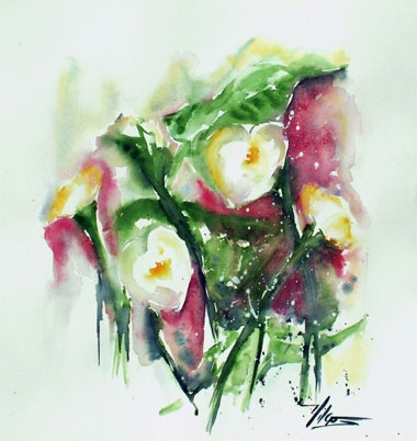 LES ARUMS Aquarelle