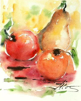 Les fruits de saisonAquarelle Vendue