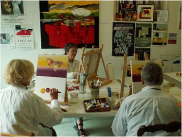 stage peinture huile aquarelle