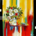 Incandescence 80x80 cm huile sur toileCopyright Vilcaz