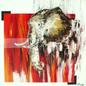 AfricaniaHuile sur toile100x100 cm