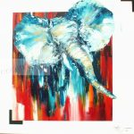 GaspardHuile sur toile100x100 cm