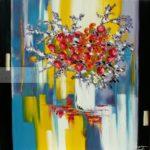 Bouquet de fleur rouges et bleues