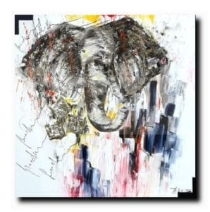 Hollywood circushuile sur toile90x90 cm