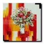 Bouquet d'un nouveau mondehuile sur toile80x80 cm