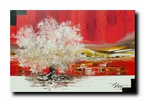 L'oeuvre au rougeHuile sur toile50x70 cm Vendu