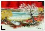Le lacHuile sur toile50x70 cm