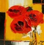 Three poppies>Huile sur toile13x13 cmVendu