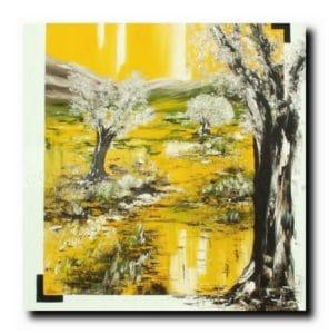Eden<br>Huile sur toile<br>120x120 cm<br>Copyright Vilcaz