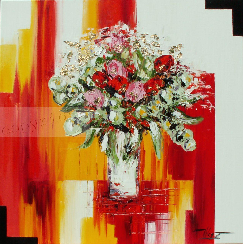 Bouquet d'un nouveau mondeHuile sur toile80x80 cmCopyright Vilcaz