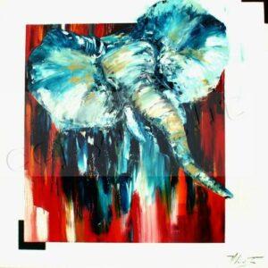 Gaspard Huile sur toile90x90 cm