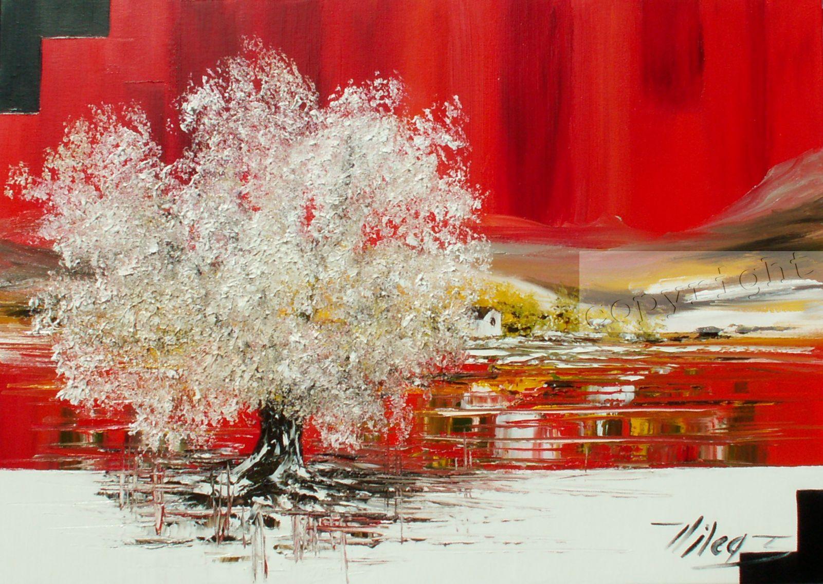 L'oeuvre au rougeHuile sur toile50x70 cmCopyright VilcazVendu