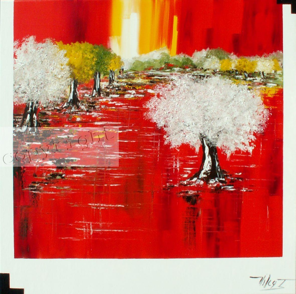 Rouge d'orHuile sur toile100x100 cmCopyright Vilcaz