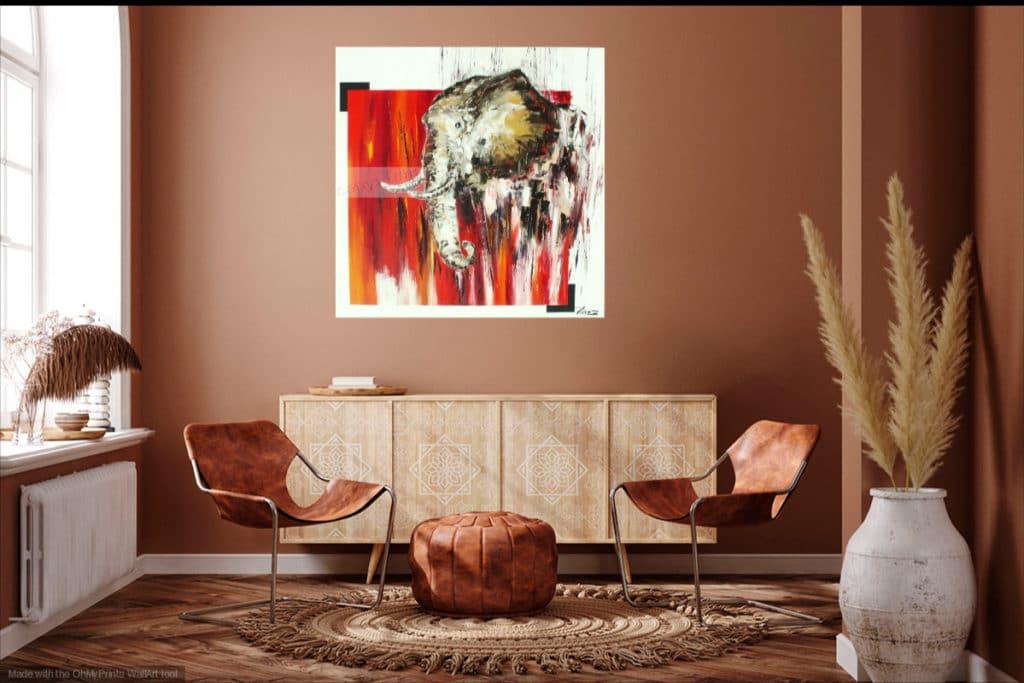Africania. Huile sur toile. 80 x 80. cm