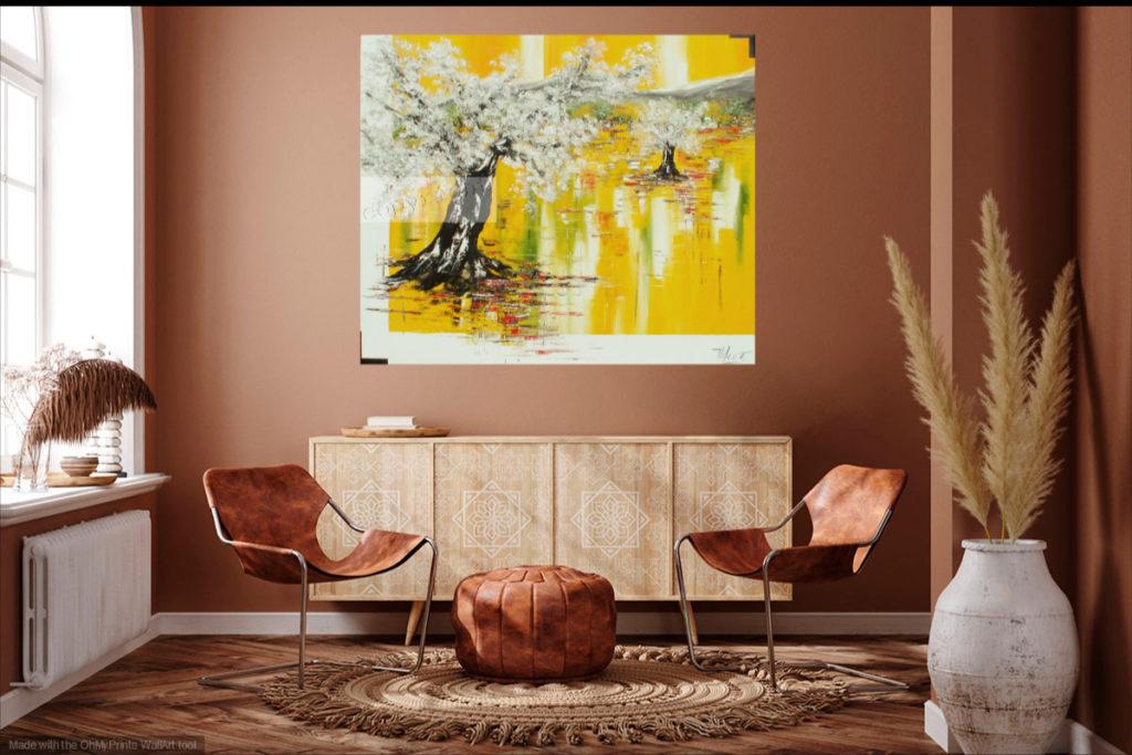 Chemin de lumière. Huile sur toile. 100 x 120 cm
