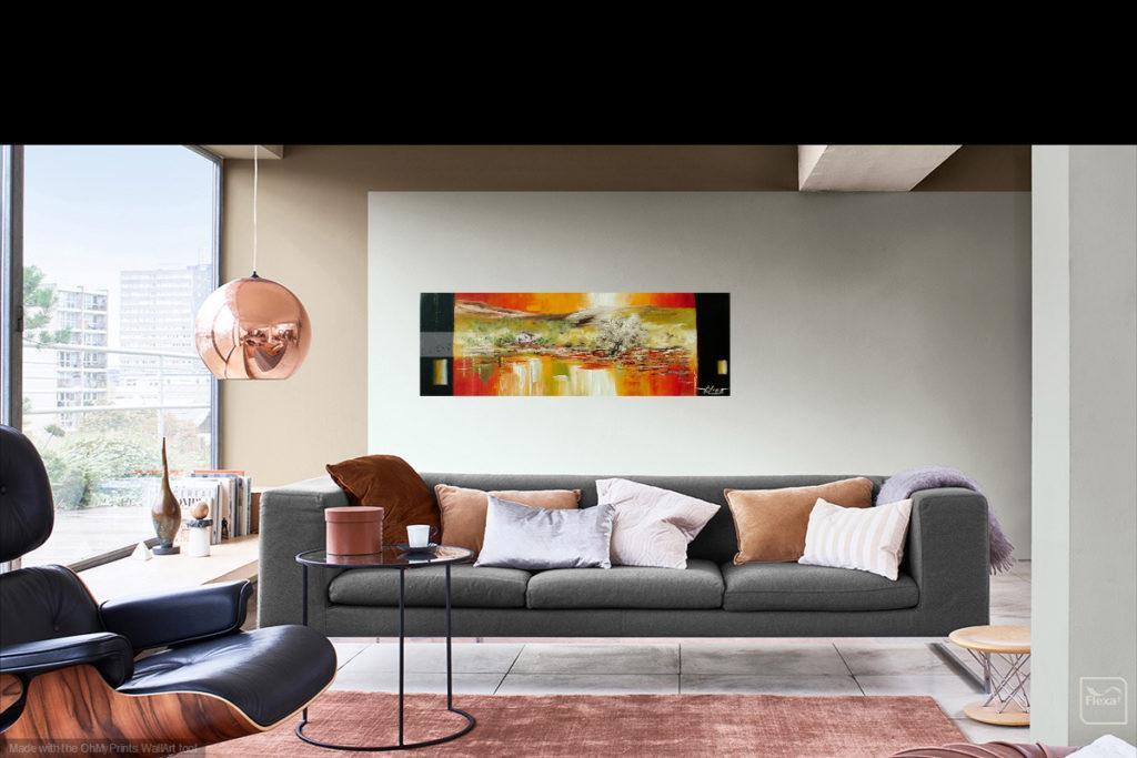 Coeur Provence. Huile sur toile. 30 x 90 cm