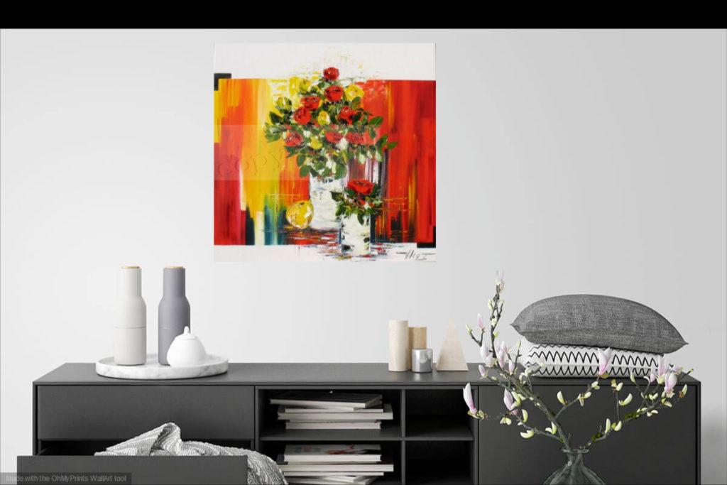 L'Amour en nous. Huile sur toile. 80 x 80 cm