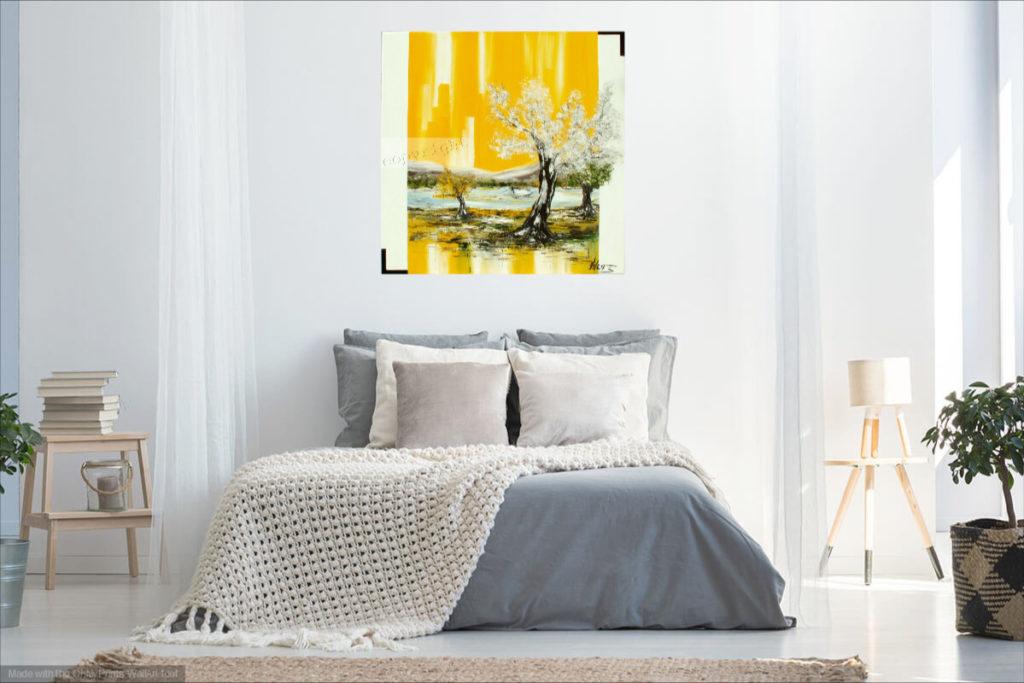 Pour la vie. Huile sur toile. 80 x 80 cm