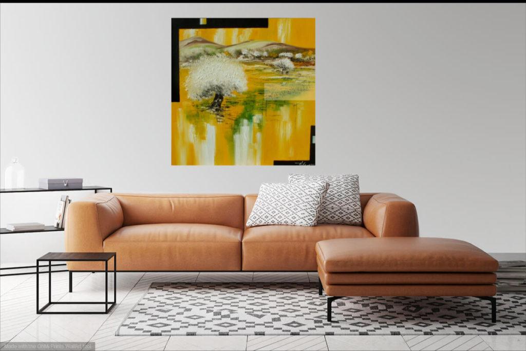 Rêve Provençal. Huile sur toile. 90 x 90 cm