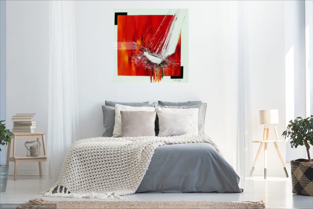 Le vent du large. Huile sur toile. 80 x  80 cm