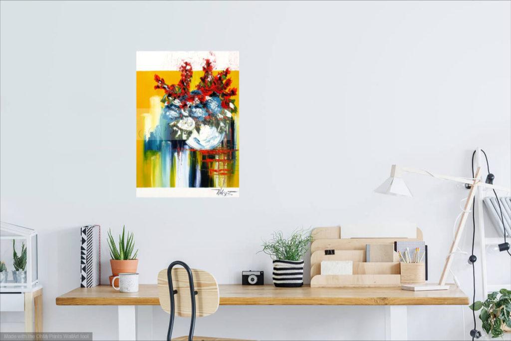 Vive la vie ! Huile sur toile. 50 x 70 cm