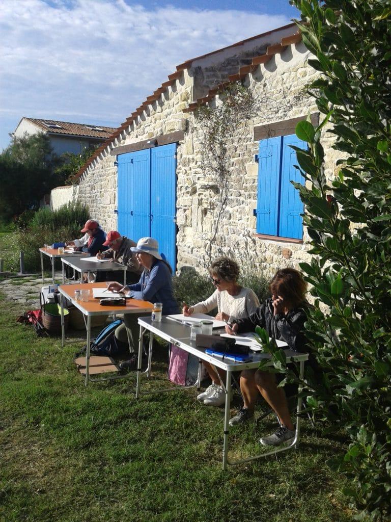 Stage aquarelles Marennes-Oléron avec Corinne Vilcaz