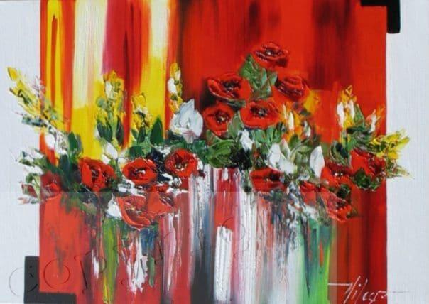 Coulée d'Amour Peinture à l'huile Corinne Vilcaz