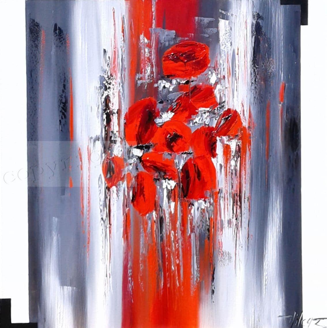 Rouge envoléeHuile sur toile80x80 cm